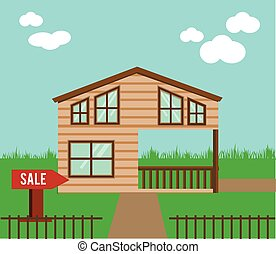 Real estate on sale. House, cottage, townhouse, sweet home...