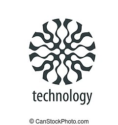 vector logo technology - pattern design logo network. Vector...