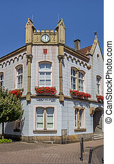 Old town hall in the historical center of Bad Bentheim,...