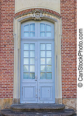 Door of the Clemenswerth castle in Sogel, Germany
