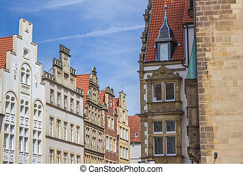 Old buildings at the Prinzipal market square in Munster,...