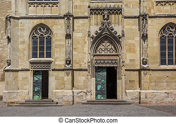 Front of the St. Paulus Dom in the historical center of...