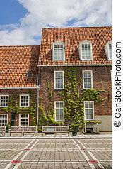 Building of the former orphanage in Groningen, Netherlands