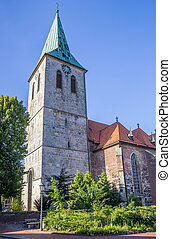 St. Vincentius church in historical city Haselunne, Germany