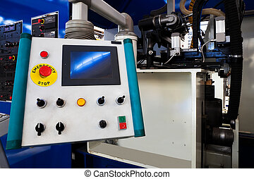 remote control of a new and modern metal machines