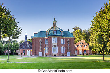 Main building of the Clemenswerth castle in Sogel, Germany