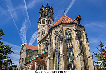 St. Ludgeri church in the historical center of Munster,...