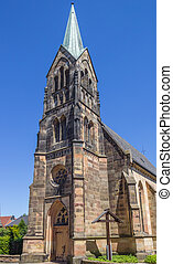 Catholic church in the historical center of Schuttorf,...