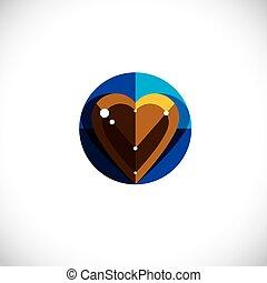Vector illustration of elegant love heart isolated....