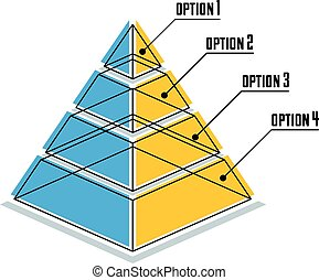 Infographics element, 3d layered pyramid, vector...