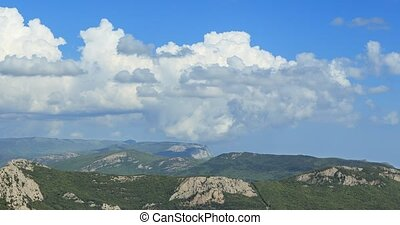 Clouds over the mountains, the south of the Crimea....