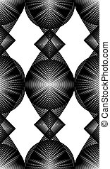 Continuous vector pattern with black graphic lines,...