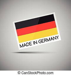 Vector card Made in Germany with German flag, vector illustration for you business