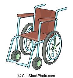 Wheelchair icon, cartoon style - Wheelchair icon. Cartoon...