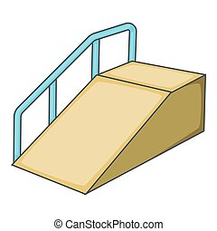 Ramp for the disabled icon, cartoon style - Ramp for the...