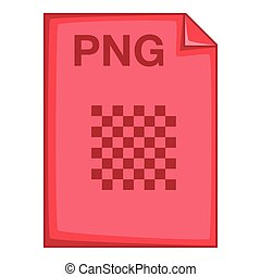 PNG file icon, cartoon style - PNG file icon. Cartoon...