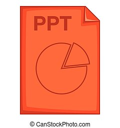 PPT file icon, cartoon style - PPT file icon. Cartoon...