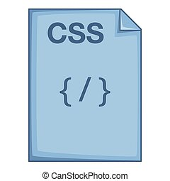 CSS file icon, cartoon style - CSS file icon. Cartoon...