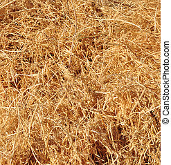 abstract background made from straw
