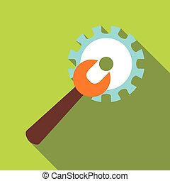 Adjustable wrench icon, flat style - Adjustable wrench icon....