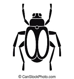 Dung beetle icon, simple style - Dung beetle icon. Simple...