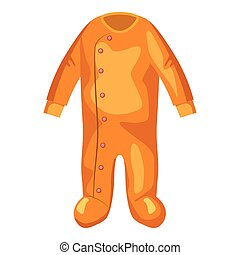 Jumpsuit for baby icon, cartoon style - Jumpsuit for baby...