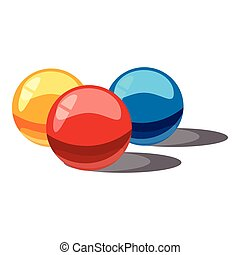 Balls for paintball icon, cartoon style - Balls for...