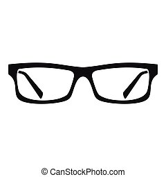 Eye glasses icon, simple style - Eye glasses icon. Simple...