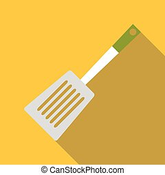 Spatula for cooking icon, flat style - Spatula for cooking...
