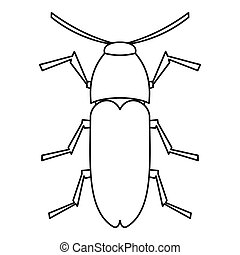 Dung beetle icon, outline style - Dung beetle icon. Outline...