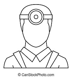 Ophthalmologist icon, outline style - Ophthalmologist icon....