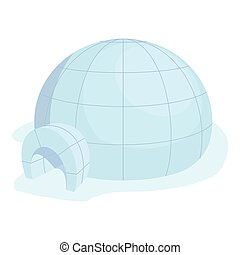 Igloo icon, cartoon style - Igloo icon. Cartoon illustration...
