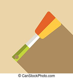 Kitchen spatula icon, flat style - Kitchen spatula icon....