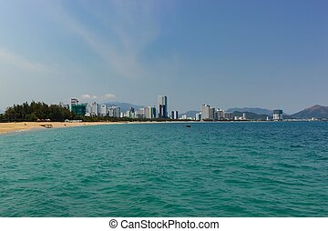 East Coast Vietnam - East coast city skyline of Nha Trang...