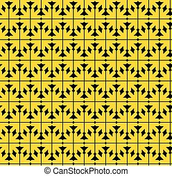 Contrast abstract seamless pattern with yellow arrows....