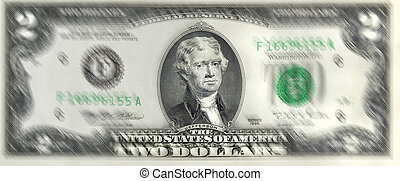 Lucky Two Dollar Bill.