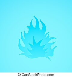 blue flame illustration design - creative design of blue...