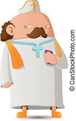Pastor Man Character Cartoon Design Vector