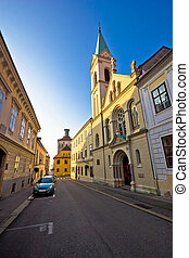 Historic Zagreb upper town street view