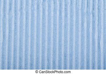 Crinkled cardboard background - Close up of blue crinkled...