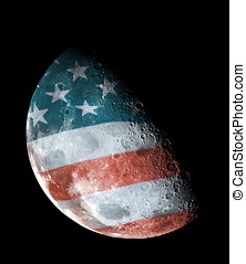United States half moon - Half moon on a backgroound United...