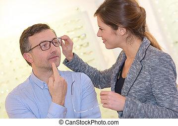 testing and eyewear