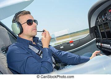 pilot on board