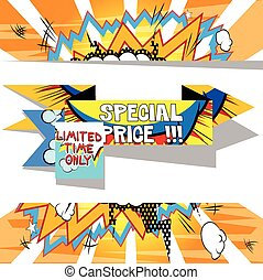 Vector Special Price banner
