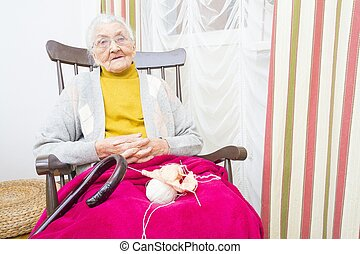 Elderly lady's time spent well