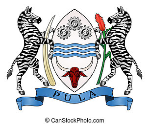 Botswana Coat of Arms - Botswana coat of arms, seal or...