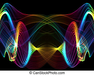 abstract multicolored waves