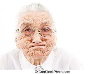 funny grandma - grandmother with funny expressions ona n...