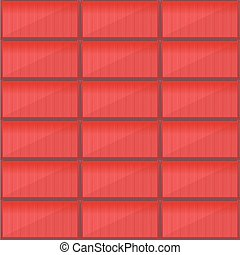 Container Cargo Seamless Pattern Wallpaper Vector