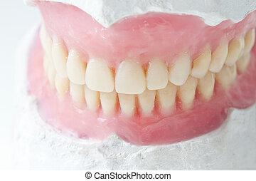 total dental prosthesis - mock- up, for, denta,l total,...